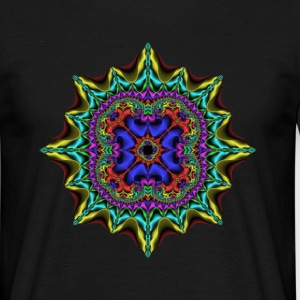 Black fractal1 Men's T-Shirts - Men's T-Shirt