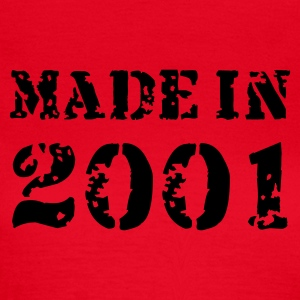 Rot Made in 2001 T-Shirts - Frauen T-Shirt