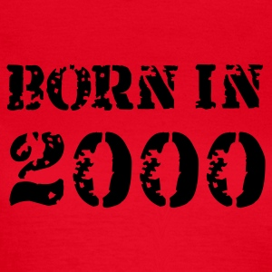 Rot Born in 2000 T-Shirts - Frauen T-Shirt