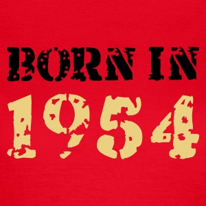 Rot Born in 1954 T-Shirts - Frauen T-Shirt