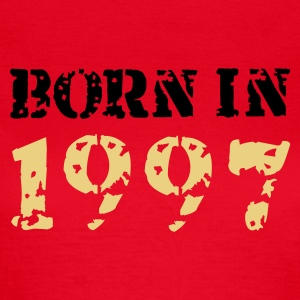 Rot Born in 1997 T-Shirts - Frauen T-Shirt