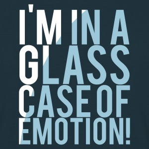 Navy I'M IN A GLASS CASE OF EMOTION! Men's T-Shirts - Men's T-Shirt