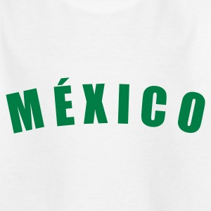 Weiß MÉXICO Mexico Mexiko fútbol football Fußball Länder countries WM cup Sport sports - eushirt.com Kinder T-Shirts - Teenager T-Shirt