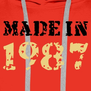 Rot Made in 1987 Pullover - Männer Premium Hoodie