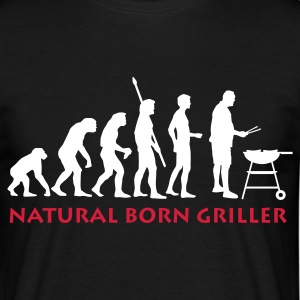 Black natural_born_griller_2c Men's T-Shirts - Men's T-Shirt