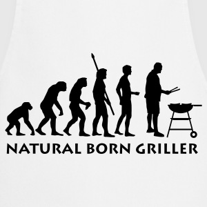 White natural_born_griller_1c  Aprons - Cooking Apron