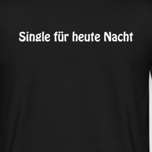 Schwarz single_fuerheutenacht_whitetype T-Shirts - Männer T-Shirt