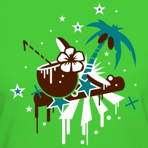 Light green Coconut cocktail on the beach under palm trees Women's T-Shirts - Women's Organic T-shirt