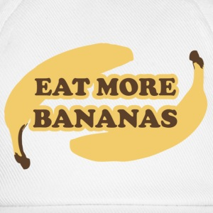 White/white Eat more bananas - Eat more bananas Caps & Hats - Baseball Cap
