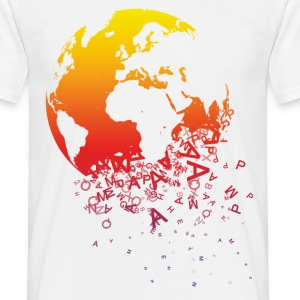 Vit World dissolves - World upplöses T-shirts - T-shirt herr