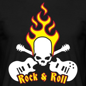 fire_skull_guitar_b_3c T-Shirts - Men's T-Shirt