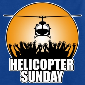 Royal blue helicopter_sunday Kids' Shirts - Teenage T-shirt