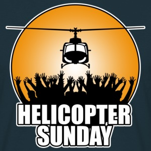 Navy helicopter_sunday Men's T-Shirts - Men's T-Shirt