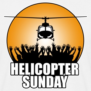 White helicopter_sunday Men's T-Shirts - Men's T-Shirt