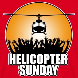 Red helicopter_sunday Men's T-Shirts - Men's T-Shirt