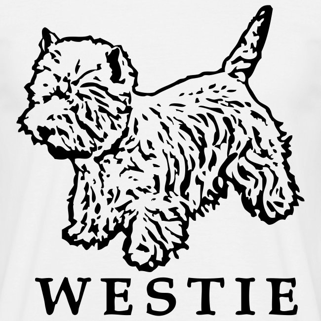 Mens/Unisex 'Westie' T-Shirt