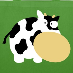 Leaf green Moo Cow Farm Animal Farm Muhkuh Muuuh Bags  - EarthPositive Tote Bag