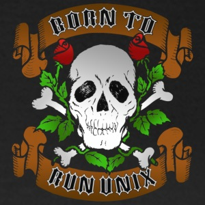 Sort Born To Run Unix T-shirts - Dame-T-shirt