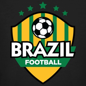 Sort Brazil Football (DD) T-shirts - Organic mænd