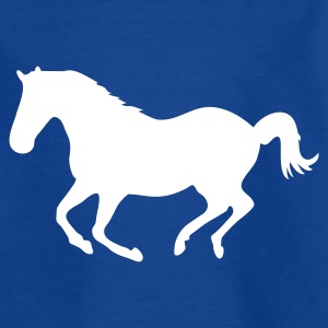 Royalblau Pferd Pony Reiten Reiter Galopp Kinder T-Shirts - Teenager T-Shirt