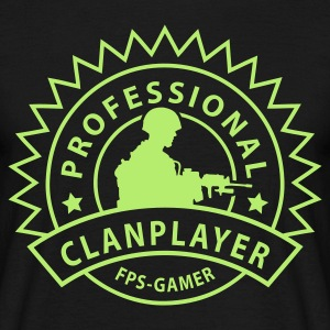 Svart prof_clanplayer_1_no T-skjorter - T-skjorte for menn