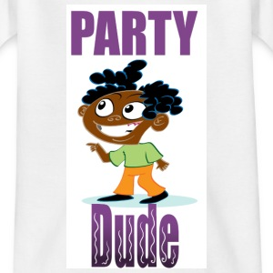 White Party Dude Kid's Shirts  - Teenage T-shirt