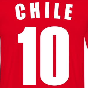 Rot CHILE fútbol calcio football Fußball Länder countries WM cup Sport sports - eushirt.com T-Shirts - Männer T-Shirt