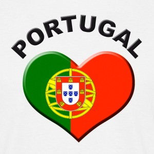 Weiß Heart for Portugal T-Shirts - Männer T-Shirt