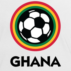 Wit/rood Ghana Football Circles 1 (DD) T-shirts - Vrouwen contrastshirt