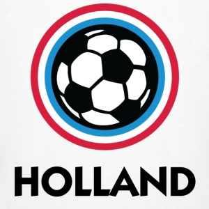 Vit Holland Football Circles 1 (DD) T-shirts - Ekologisk T-shirt herr