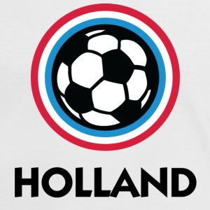 Vit/röd Holland Football Circles 1 (DD) T-shirts - Kontrast-T-shirt dam
