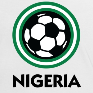 White/black Nigeria Football Circles 1 (DD) Women's T-Shirts - Women's Ringer T-Shirt