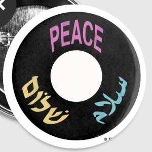 PEACE SHALOM SALAAM Buttons - Buttons groß 56 mm