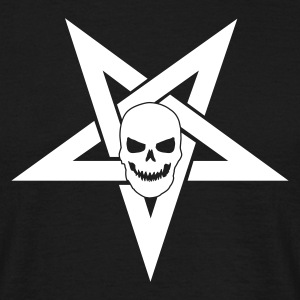 Pentagram with Skull 1 - T-skjorte for menn