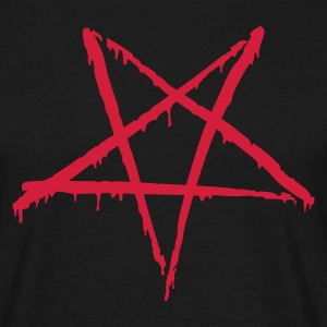 Black Bloody Pentagram Men's T-Shirts - Men's T-Shirt