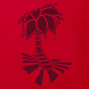 Red Palm tree on the beach Kids' Shirts - Kids' Organic T-shirt