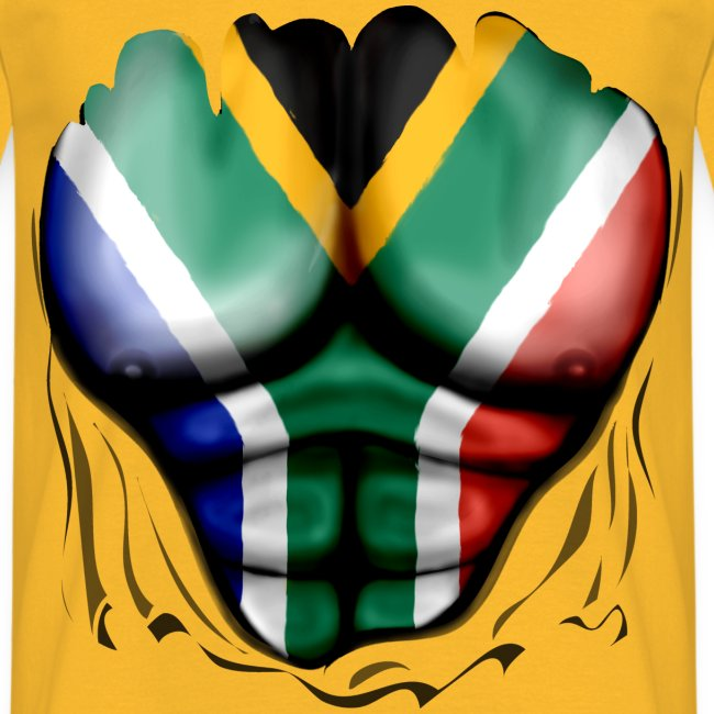 south africa  ripped muscles red