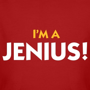 Dark red I'm a Jenius (2c) Men's T-Shirts - Men's Organic T-shirt