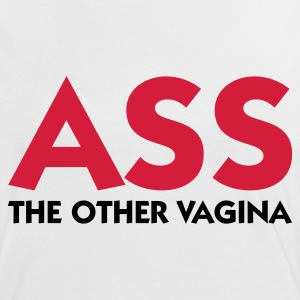 Blanco/rojo Ass The Other Vagina (2c) Camisetas - Camiseta contraste mujer