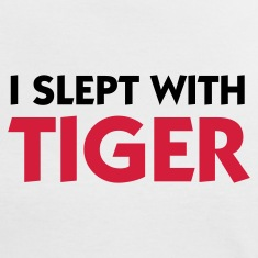 White/red I Slept with Tiger (2c) Women's T-Shirts