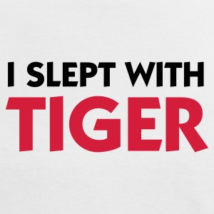 White/red I Slept with Tiger (2c) Women's T-Shirts - Women's Ringer T-Shirt