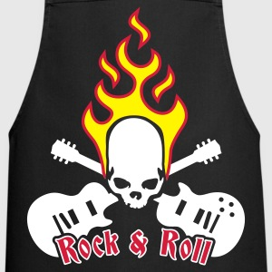 Black fire_skull_guitar_3c  Aprons - Cooking Apron
