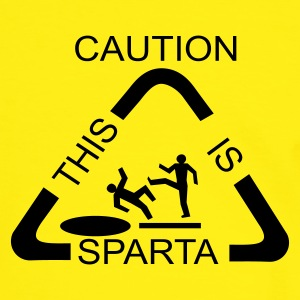 Caution! This is SPARTA! - Männer Kontrast-T-Shirt