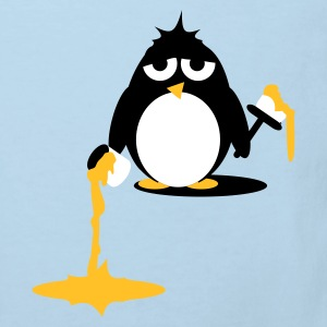 Light blue Penguin  painting - Do it yourself Kids' Shirts - Kids' Organic T-shirt