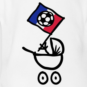 France Bébé Football Fan, Baby Body - Body bébé bio manches courtes