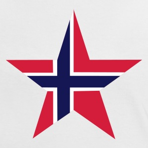 Vit/marinblå norway_star T-shirts - Kontrast-T-skjorte for kvinner