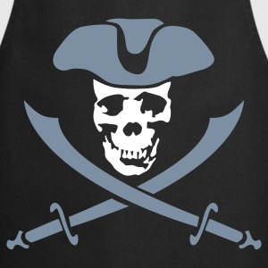 Black pirateskull_2c  Aprons - Cooking Apron
