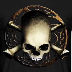 skull_and_tribal_b T-skjorter - T-skjorte for menn