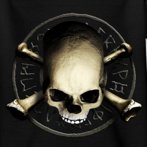 skull_and_tribal_a T-shirts - T-shirt tonåring