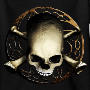 skull_and_tribal_b Shirts - Teenager T-shirt